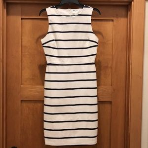 Old Navy white and navy sleeveless striped dress